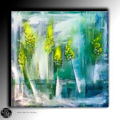 Abstract painting Textured Acrylic Painting Modern Contemporary Wall Art Painting painting large square by Anna Bulka