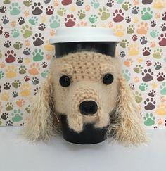 Cockerspaniel Gift - Cocker Spaniel Mug Cozy - Pet Mom - Dog Lover Gift - Dog Mug - Dog Cozy - Dog Mom - Dog Decor - Hooked by Angel by HookedbyAngel