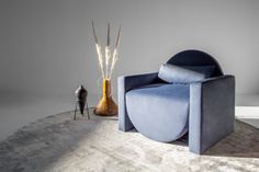 This Cape Town Designer Makes Velvet Couches and Stone Tables Inspired By the Moon - Sight Unseen Unique Furniture, Sofa Furniture, Contemporary Furniture, Furniture Design, Moon Sighting, Retail Interior Design, Velvet Couch, Furniture Collection, Bean Bag Chair