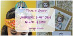Montessori Inspired Janmashtami 3-part cards Montessori, Activities For Kids, Culture, Teaching, Celebrities, Sage, Cards, Indian, Inspiration