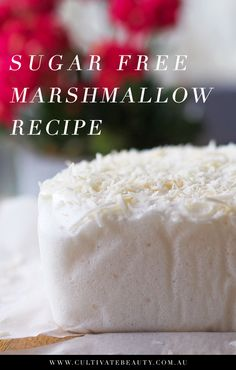 Whipping up a batch of sugar free marshmallows at home is easier than you'd think! This sugar free marshmallow recipe takes about 20 minutes to prepare 12 Easy Sugar Free Brownie Recipes Diabetic Desserts, Sugar Free Desserts, Sugar Free Recipes, Paleo Dessert, Low Carb Desserts, Diabetic Recipes, Low Carb Recipes, Dessert Recipes, Brownie Recipes