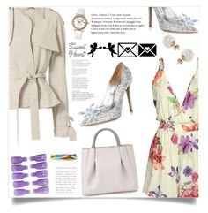 """Setting Suns"" by violet-peach ❤ liked on Polyvore featuring Alexandra de Curtis, Jimmy Choo, Harvey Faircloth and Miss Selfridge"