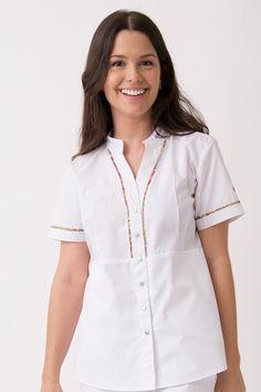 Colombina Poly Gravata Scrubs Pattern, Scrubs Outfit, Medical Scrubs, Jack Black, Blouse, Sewing, How To Wear, Denim, Pharmacy