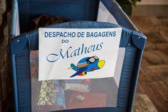 """Felipe, o pequeno viajante: chá de bebê com o tema """"viagens"""", pela mamãe viajante Barbara Ribeiro Vasco"""