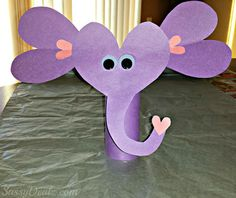 Valentines Day Elephant Craft For Kids (Toilet Paper Roll or Card) - Sassy Dealz