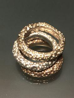 Crateri su materia - anelli rame  bronzo argento