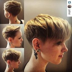 layered short pixie haircut for thick hair