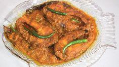 Rui Macher Kalia - Most Famous Bengali Traditional Fish Recipe Rohu Fish. Curry Recipes, Beef Recipes, Vegetarian Recipes, Cooking Recipes, Bengali Fish Recipes, Bengali Food, Grilling Recipes, Lunch Recipes, Seafood Recipes