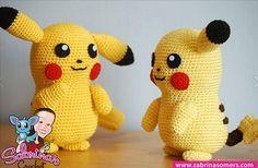 Pikachu van Pokémon Go haken met gratis haakpatroon
