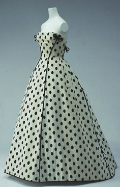 ~Jacques Faith dress ca. 1953 via The Kyoto Costume Institute~