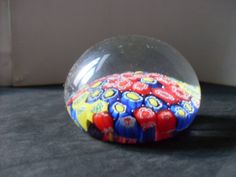 Vintage Murano Glass Millefiori Paperweight by SuzsCollectibles