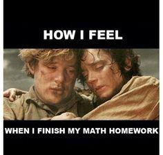 Lord of the Rings meme #math #homework #school