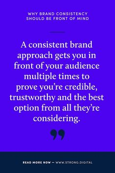 WHY BRAND CONSISTENCY SHOULD BE FRONT OF MIND.  Consistency doesn't mean boring. We explain how a consistent brand identity can build brand recognition and communicate your WHY to your audience- take a look at our newest blog article now!