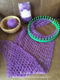 Knitting With Looms: Shawlette