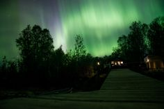 Northern lights at Blackstone Lake, Ontario