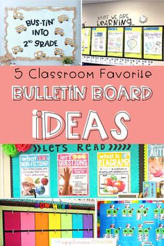 5 classroom favorite bulletin board ideas- these are some of my favorite bulletin boards to have up! If you're looking for easy bulletin board ideas check out this post! TheAppliciousTeacher.com