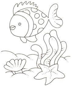 Desenhos do fundo do mar | Desenhos para Colorir