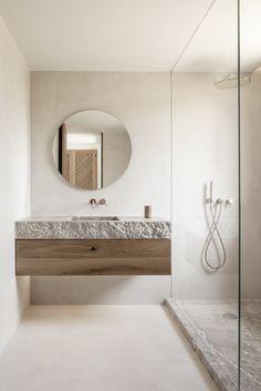 Bathroom Countertops, Latest Bathroom Trends, Bathroom Trends, Bathroom Decor, Home Remodeling, Beautiful Bathrooms, Earthy Bathroom, Bathroom Interior Design, House Interior