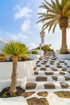 Staircase to El Campesino Monument, Lanzarote. #lanzarote #spain #europe
