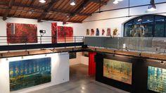 2016 - François Nugues - Exposition - Conatus - Exhibition view - art center - La Lune en Parachute - France - Oil painting Penture - Art