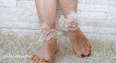 Wedding Beach ivory bridal footwear sandal pink feather