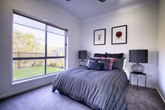 Simple and elegant guest bedroom with light and privacy. I love the carpet color. Win A House, Prize Homes, Luxury Penthouse, Carpet Colors, Home Decor Inspiration, House Plans, Dreams, Elegant, Bedroom