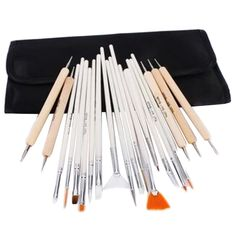 ATNICHES 20 Piece Nail Art Painting Kit Brushes and Dotting Pen,Dotter Tool Kit Set -- More info could be found at the image url.