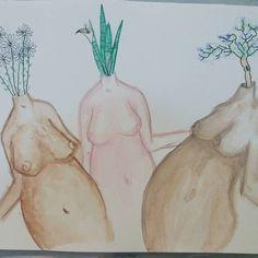 São muitas manas.   Aquarela e nanquim sobre papel. #arte #art #aquarela #aracaju #mulher #mulherartistaresista #flores #women #ilustração #illustration #contemporaryart #artesergipana #maistetasmenostretas #flower #watercolor #desenho #draw #nanquim