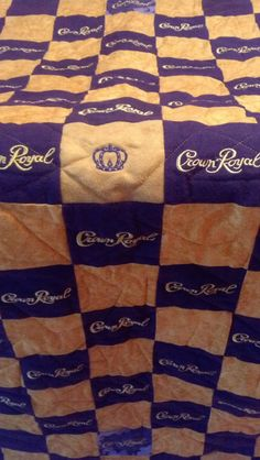 Custom Made to Order Crown Royal Quilt, Couch Throw, Man Cave Blanket (You pick the size and pattern) on Etsy, $150.00