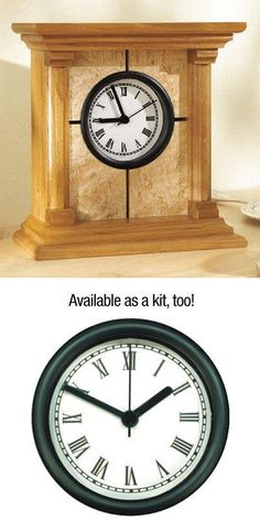 """Stately yet simple, this architectural clock can be built with just a tablesaw, router, and bandsaw or jigsaw. 7"""" high by 7"""" wideFeatured in WOOD Issue 153, December 2003"""