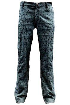 Pentagramme Mens Black Aristocrat Brocade Gothic Trousers Pentagramme Mens Black Aristocrat Brocade Gothic Trousers [P050093A-BLK] - £55.99 : Angel Clothing   Gothic and Steampunk Clothing
