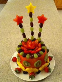 Our own birthday creation Watermelon fruit cake Desserts
