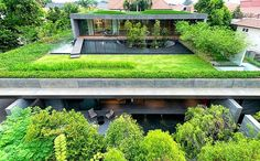 This stunning modern single family house consisting of two separate blocks was recently designed by Singapore-based architecture studio FARM.