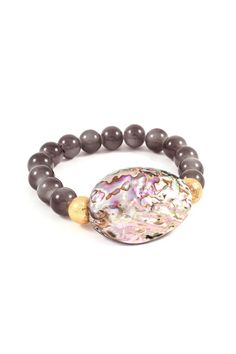 Abalone Bracelet in Ashen