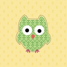 Green patterned owl