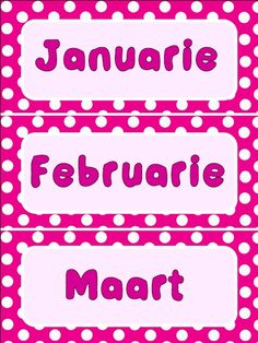 Maande van die jaar Pienk Owl Classroom, Afrikaans, Educational Activities, Calendar, Birthdays, Language, Reading, Blog, Birthday