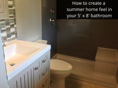 If you have a small 5' x 8' bathroom and want to create a summer home feeling in this space this articles for you!