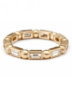 Sofia Kaman Diamond Baguette Large Stacking Ring, $4,240; sofiakaman.com.