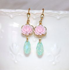 Kira Aqua Jewels by crushjewels on Etsy