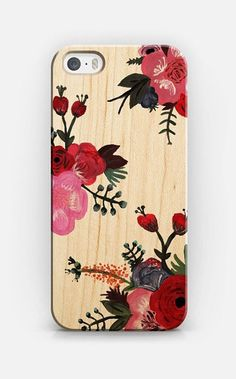 Painted Floral iPhone 6 case by Plum Street Prints