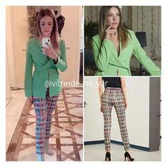 """7b6c214351cfd Vitrinde Ne Var? on Instagram: """"⭐️DİZİ MODASI⭐ #yasakelma dizisinde #edaece  nin bluz ve pantolonu @nocturne 💫 yeşil üst henüz satışta değil, ..."""