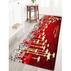 Buy 9 Style Christmas Wreath Santa Claus Print Flannel Antislip Bath Rug at Wish - Shopping Made Fun Christmas Tree With Gifts, Christmas Star, Christmas Wreaths, Christmas Rugs, Xmas, Christmas Ideas, Christmas Decorations, Floor Patterns, Star Patterns