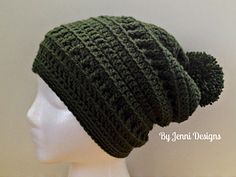 Slouchy Textured Beanie pattern by By Jenni Designs