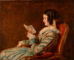 Isabelle Frith Reading (1845). William Powell Frith, R.A. (English, 1819-1909). Oil on panel. Mercer Art Gallery