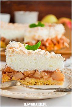 Szarlotka z bezą - I Love Bake Vanilla Cake, Cheesecake, Anna, Food And Drink, Cakes, Baking, Recipes, Scan Bran Cake, Patisserie