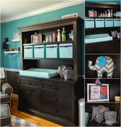 I love this changing table set-up