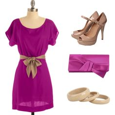 Fuchsia and Tan.... if only I looked good in Pink
