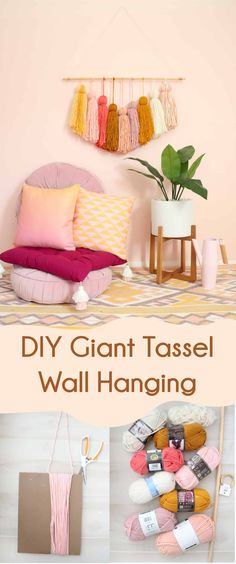 Easy tassel wall hanging