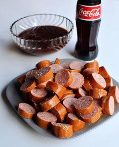This Coca-Cola Slow Cooker BBQ Kielbasa is the perfect get together or game day recipe! With few ingredients and a slow cooker, it can't get any easier! Kalbasa Recipes, Sausage Recipes, Dog Food Recipes, Cooking Recipes, Copycat Recipes, Dinner Recipes, Slow Cooker Bbq, Slow Cooker Recipes, Crockpot Recipes
