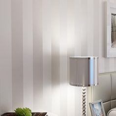 Frete Grátis minimalista moderno País Luxo Stripe Wallpapers Para Contexto Sala Quarto TV Wall Branco Bege Cinzento US $32.59